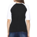 8c2d485a women raglan elbow sleeve t shirt white black back