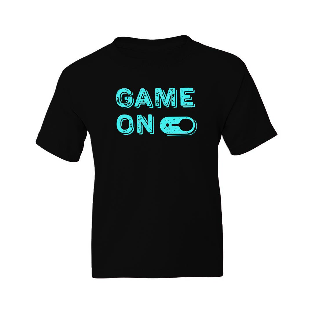 93103bef Game On Table Tennis Tt Kids T Shirt Black Front