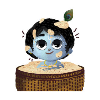 985738ba cute baby krishna