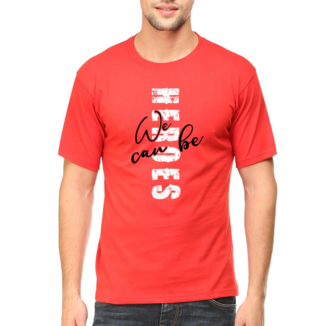 9881a899 Heroes Redmen Round Neck T Shirt Red Front