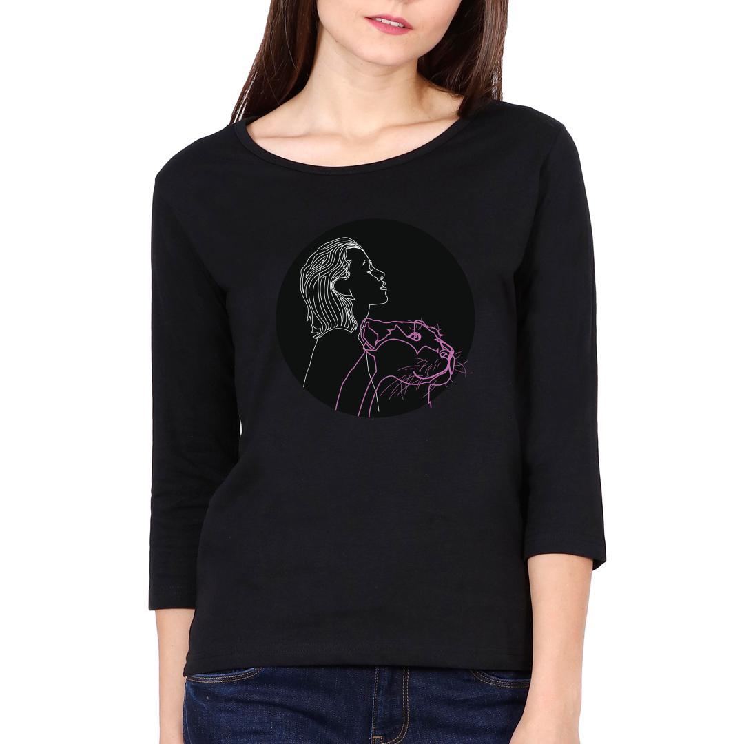 9a7b74f8 Hear Me Roar Women Full Sleeve T Shirt Black Front