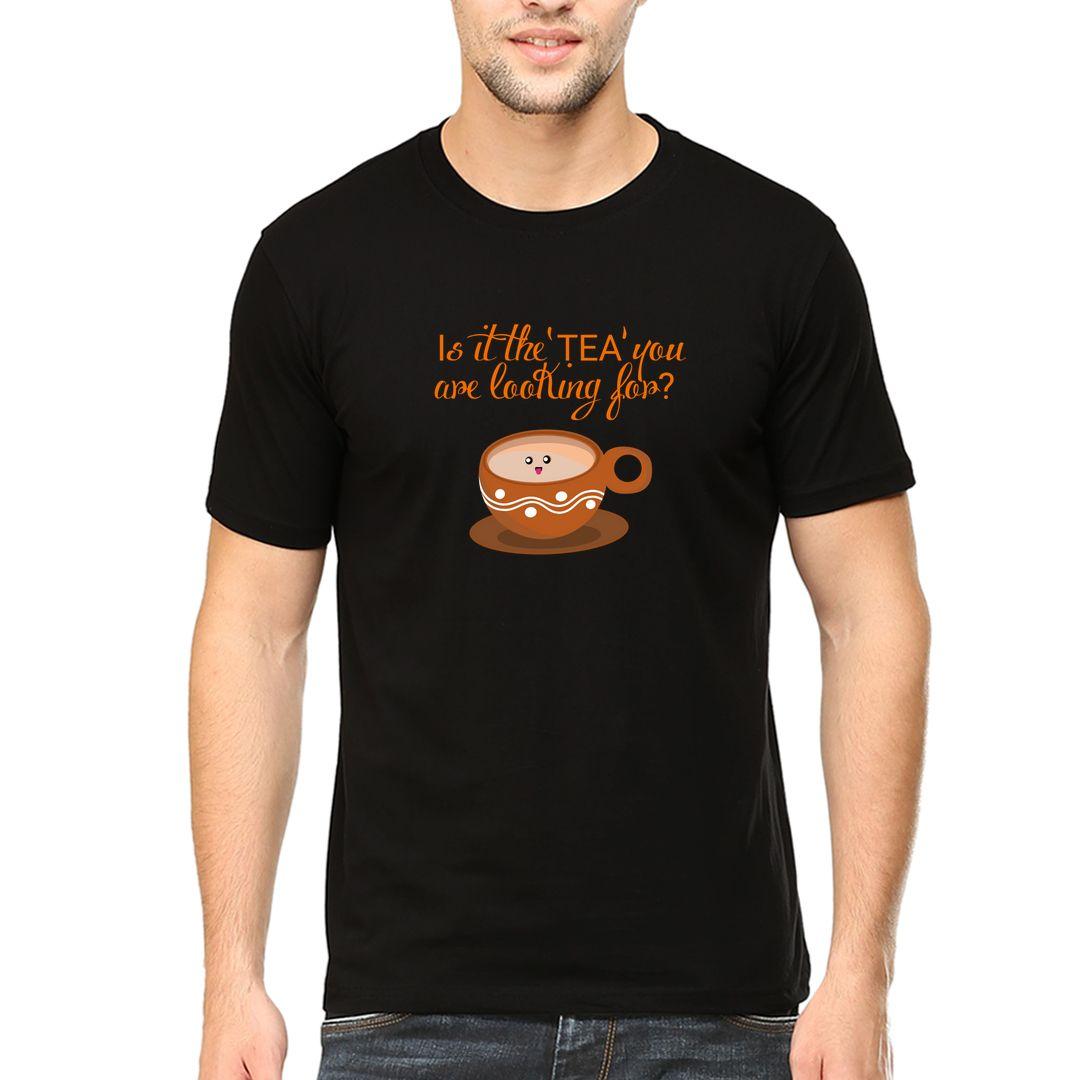 9e5aba35 Tee With Tea Men T Shirt Black Front.jpg