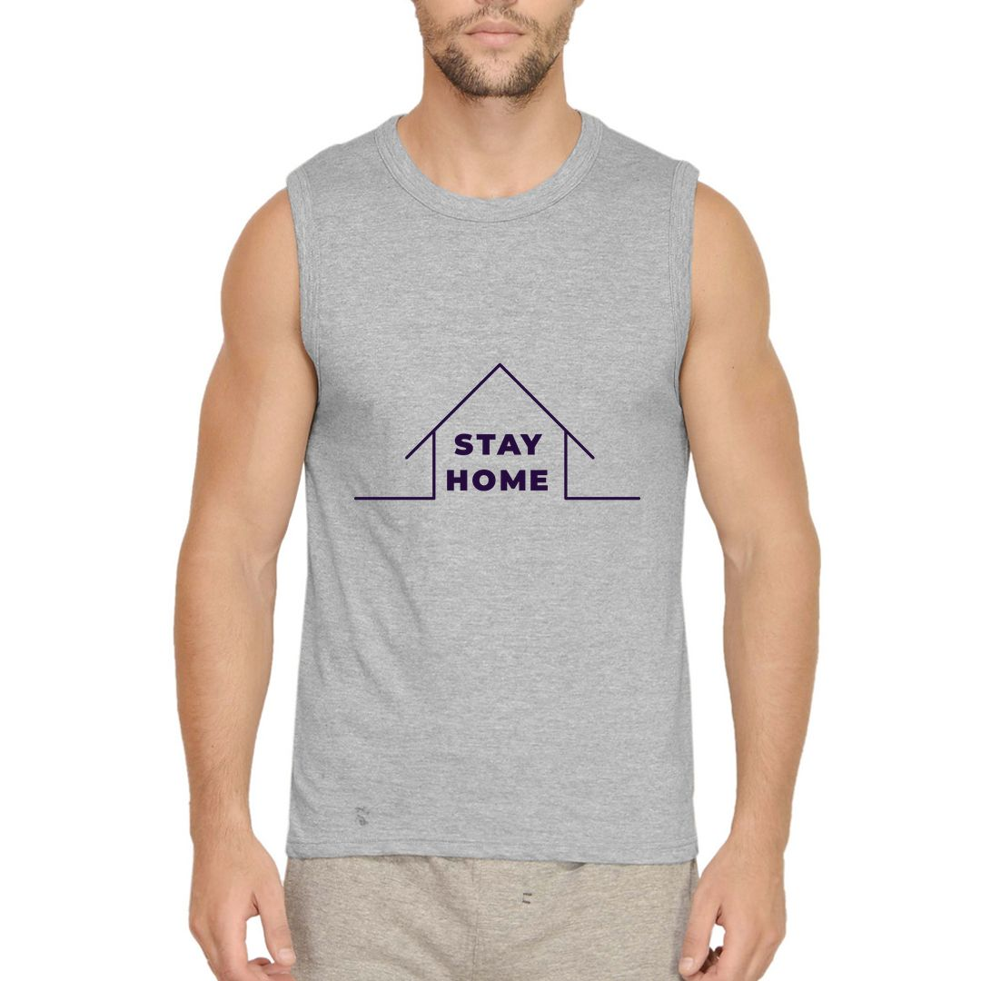 Ae50a3df Stay Home Men Sleeveless T Shirt Vest Grey Front.jpg
