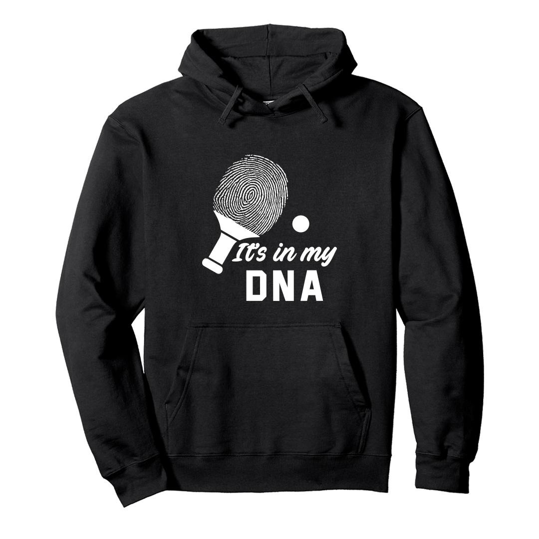 B2fa7a7d Its In My Dna Table Tennis Player Tt Unisex Hoodie Black Front