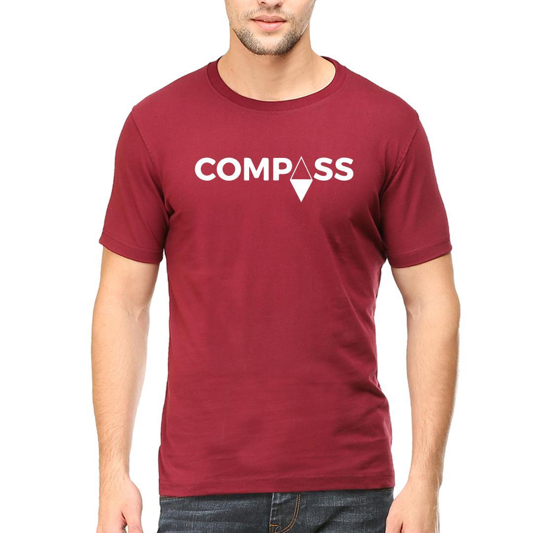B7f1d7f1 Compassmen Round Neck T Shirt Maroon Front