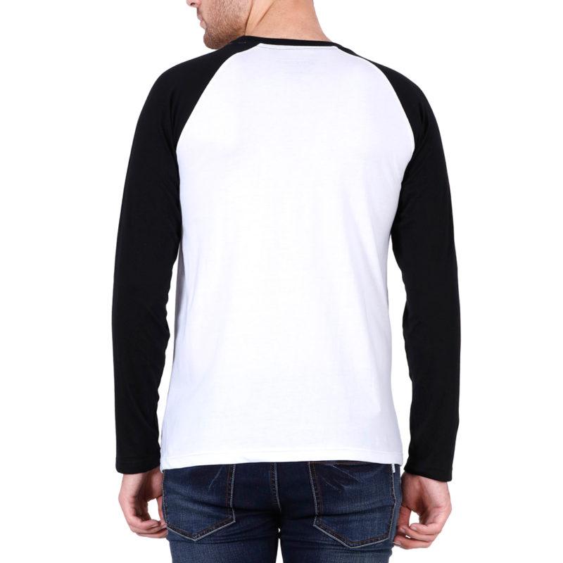 d0ecf00a men raglan full sleeve t shirt black white back