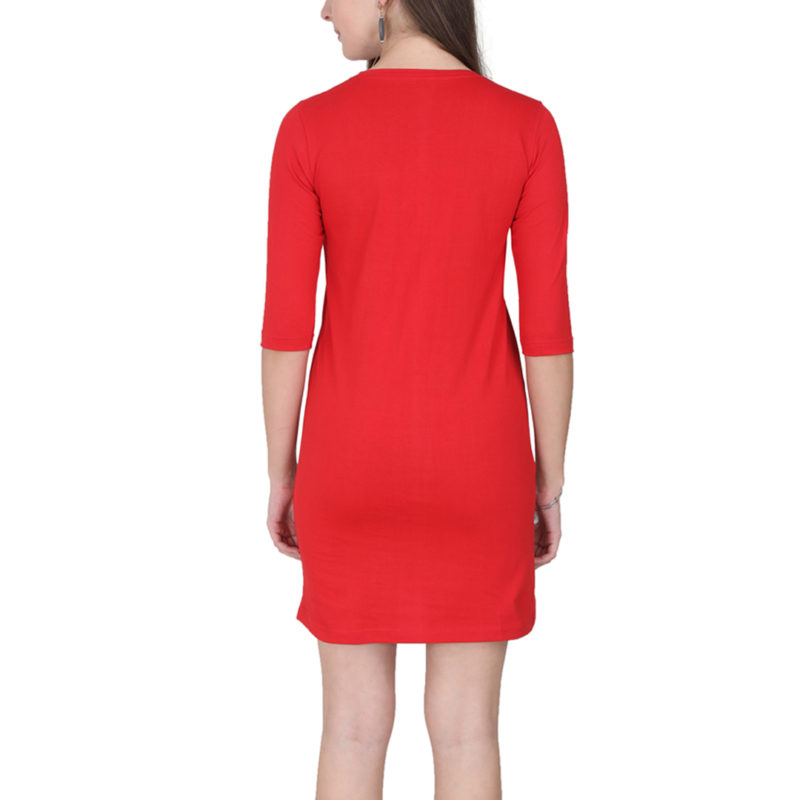 d3d0b797 women t shirt dress red back