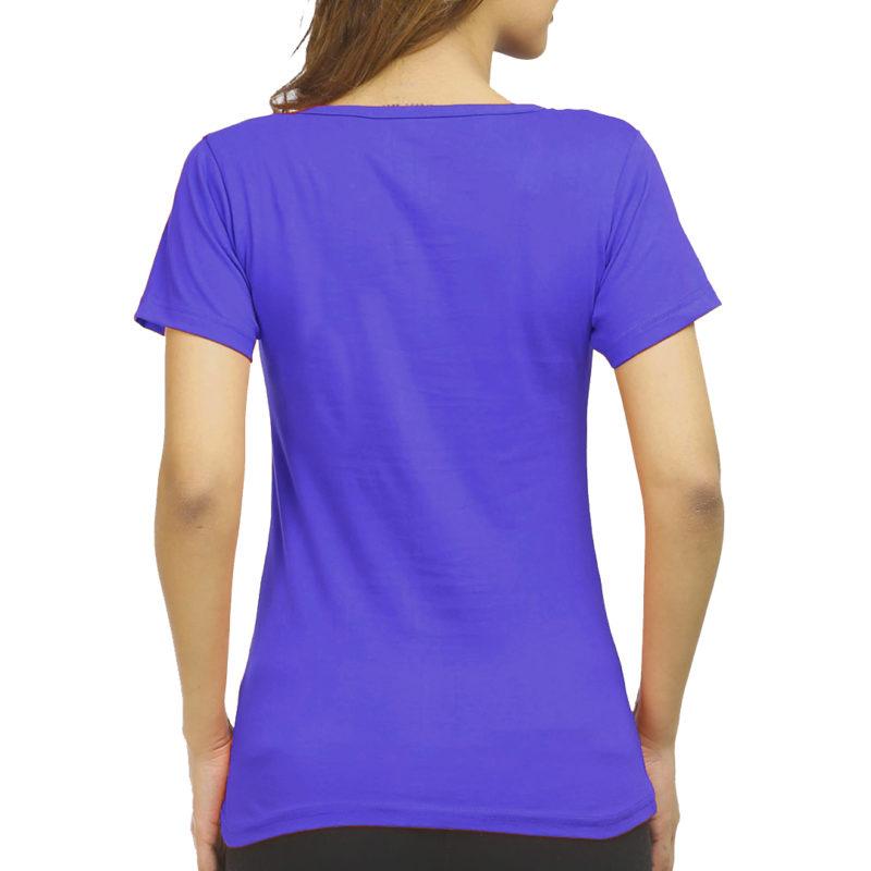 f313655a women t shirt royal blue back