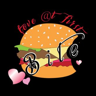 01846d4d love at first bite slogan for burger loversblack