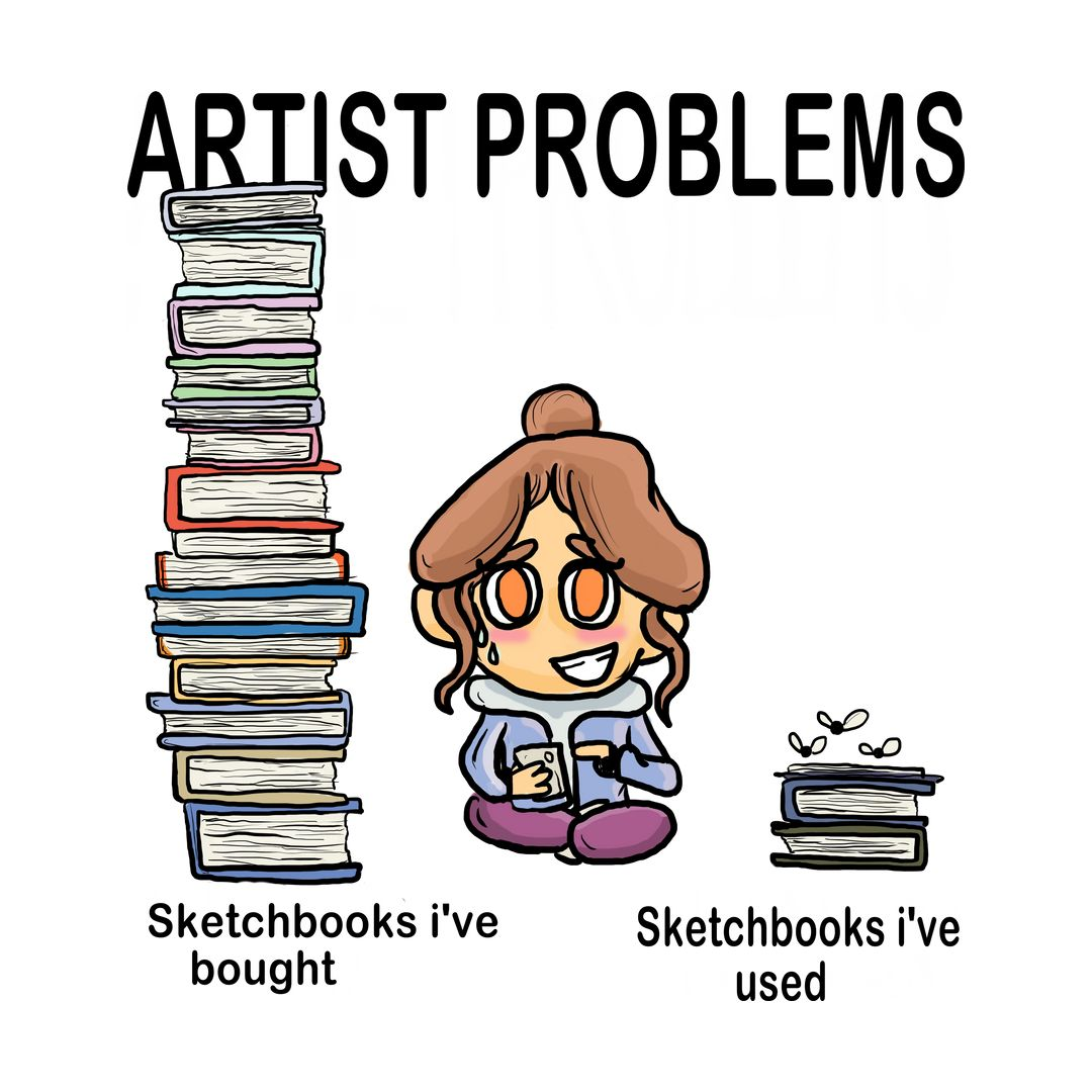 Artist Problems 2 Sketchbooks Unisex T Shirt Swag Swami