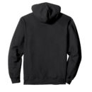 2a8fe146 unisex hooded sweatshirt hoodie black back