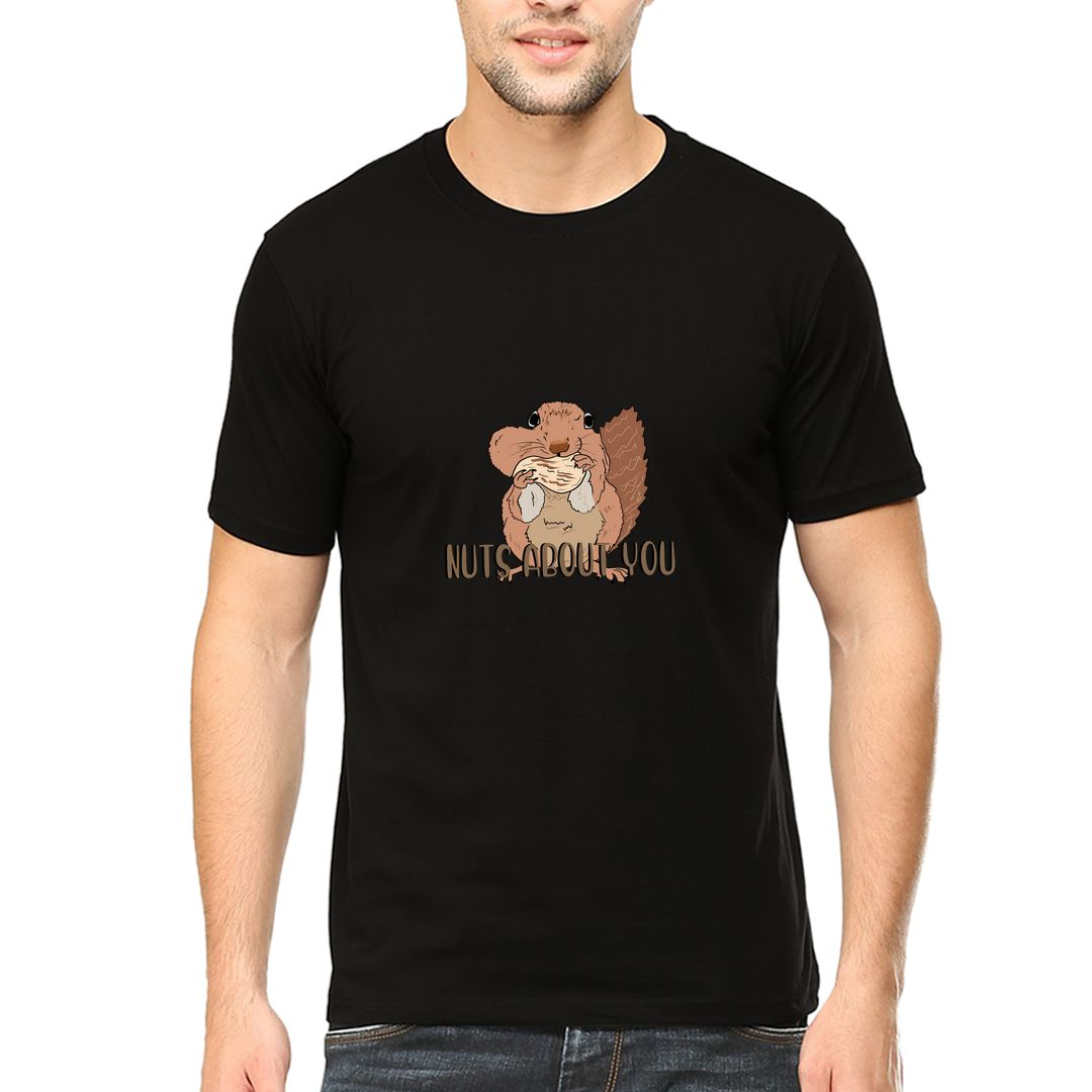 2c54f442 Nuts About You Men T Shirt Black Front.jpg