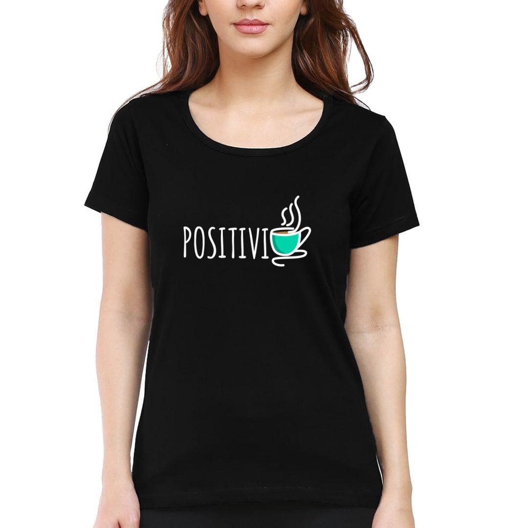 30a066b2 Positivity Tea Women T Shirt Black Front.jpg