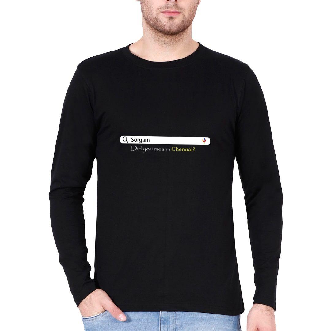 3b14f521 Chennai Lovers Full Sleeve Men T Shirt Black Front.jpg
