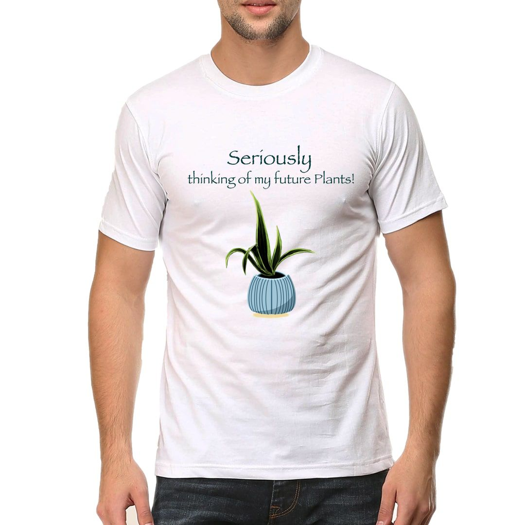 467bed52 Thinking Of Future Plants For Plant Lovers Men T Shirt White Front.jpg