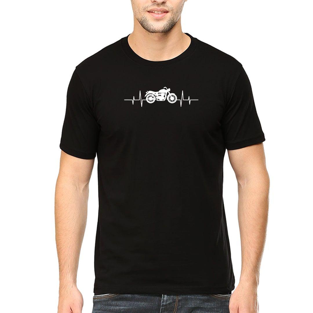 65b710b5 Bikers Heartbeat For True Bike Lovers Men T Shirt Black Front.jpg