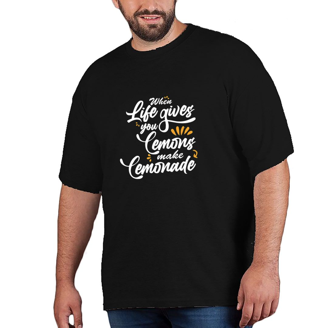 6a11f1a5 Cool Attitude About Life Plus Size T Shirt Black Front.jpg