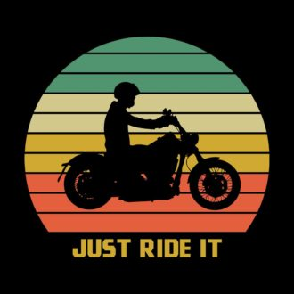 796e513a just ride it vintage retro look for bikers and bike loversblack