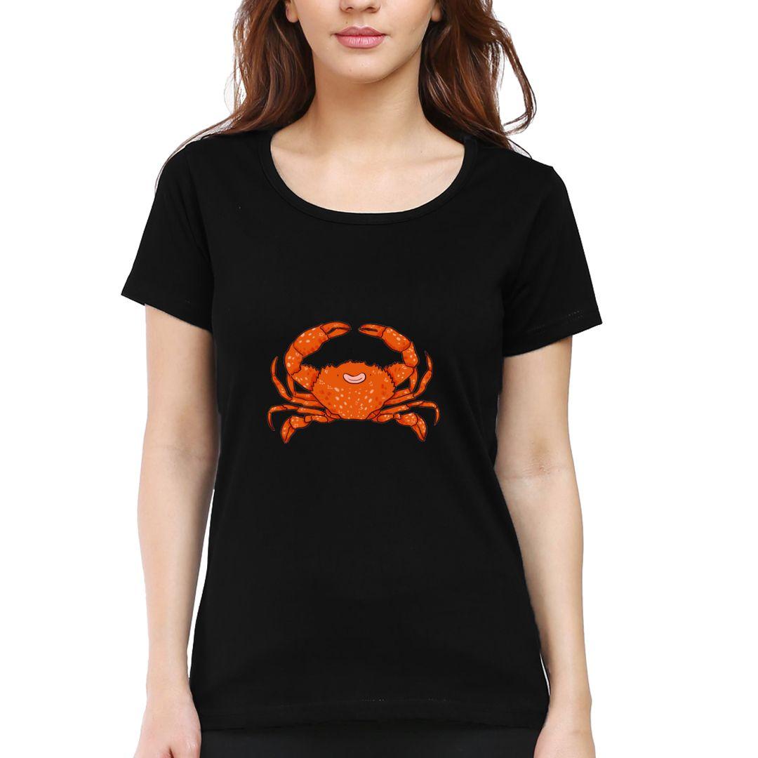 86fd4872 Crusty Crab Women T Shirt Black Front.jpg