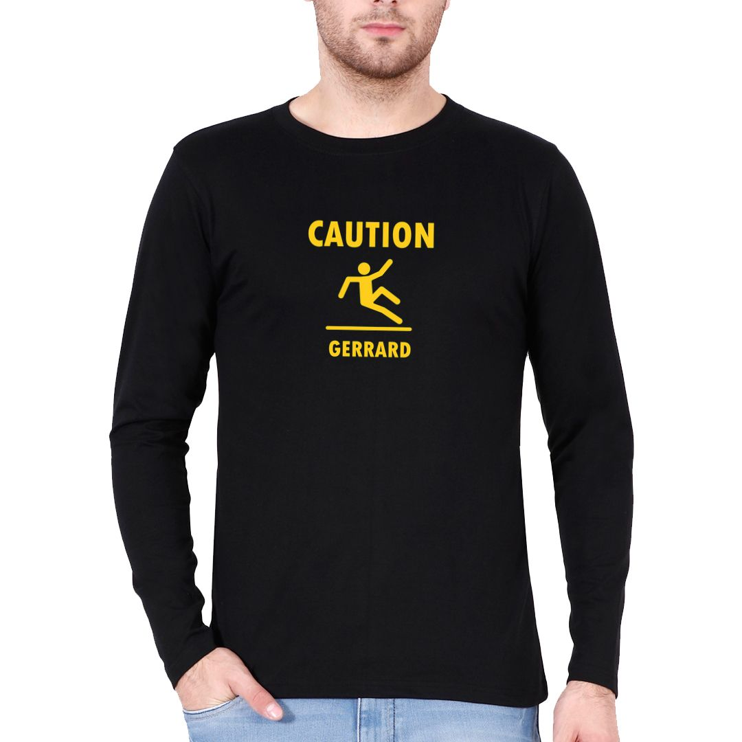 8d4c01e3 Caution Gerrard Funny Football Soccer Full Sleeve Men T Shirt Black Front.jpg