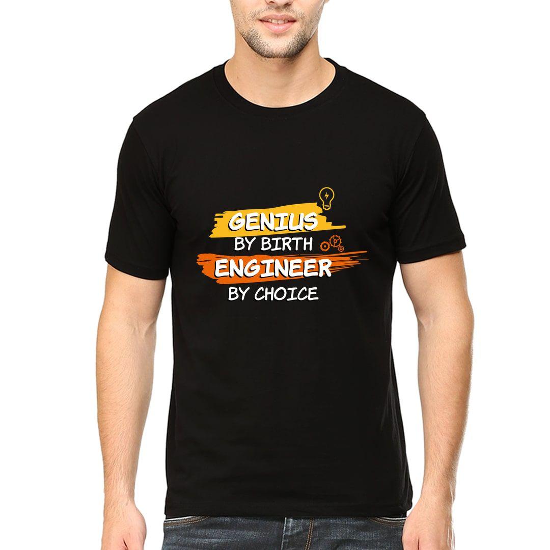 95c582e1 Genius By Birth Engineer By Choice Men T Shirt Black Front.jpg