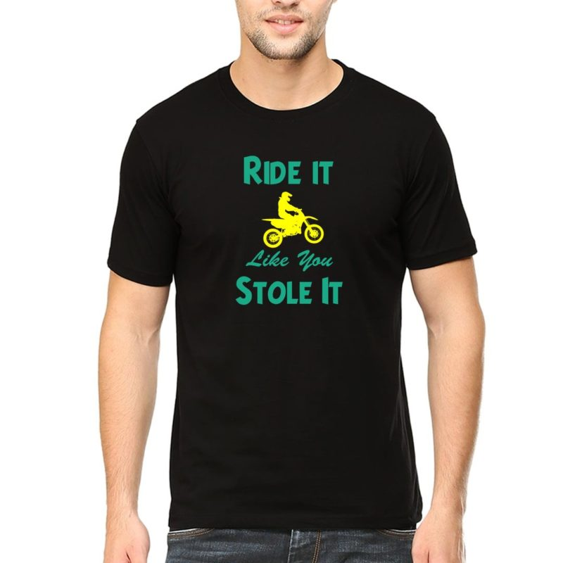 9c169239 ride it life you stole it funny slogan for bikers and bike lovers men t shirt black front.jpg