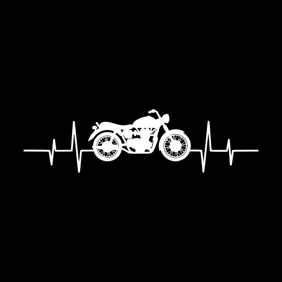 Abff4b18 Bikers Heartbeat For True Bike Loversblack