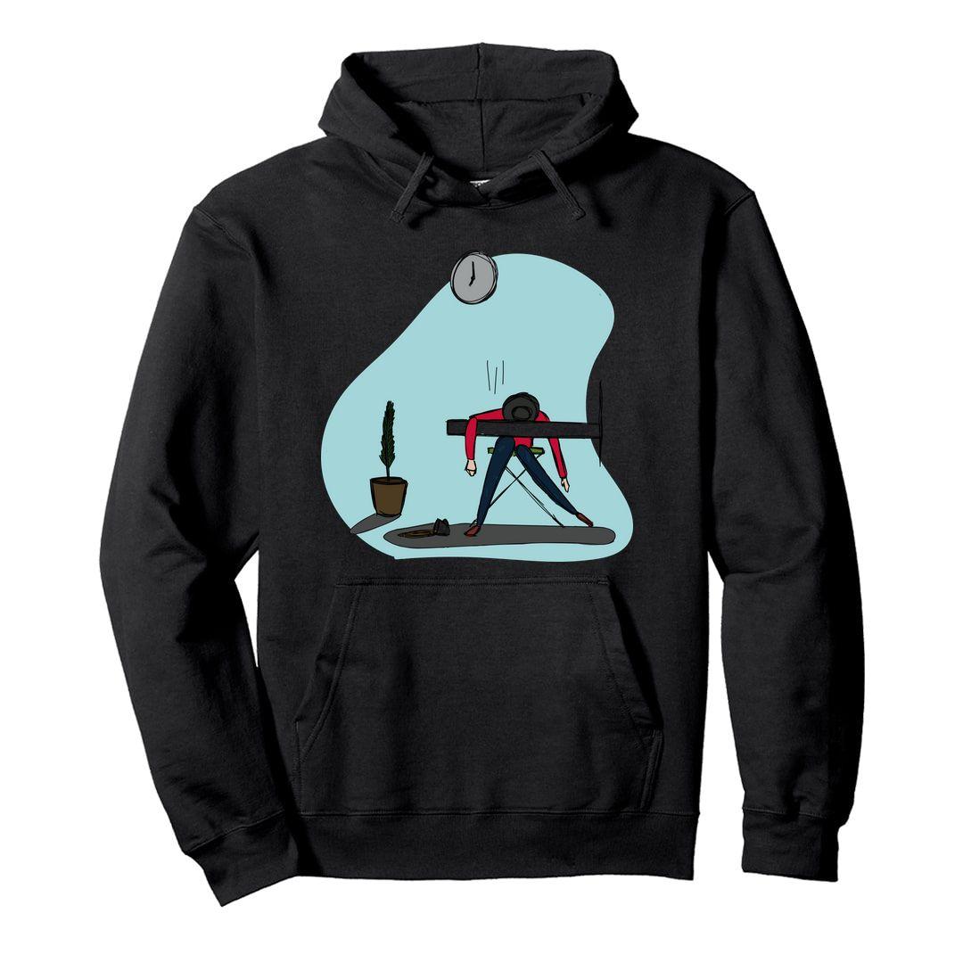 Ce558101 Mondays Unisex Hooded Sweatshirt Hoodie Black Front.jpg