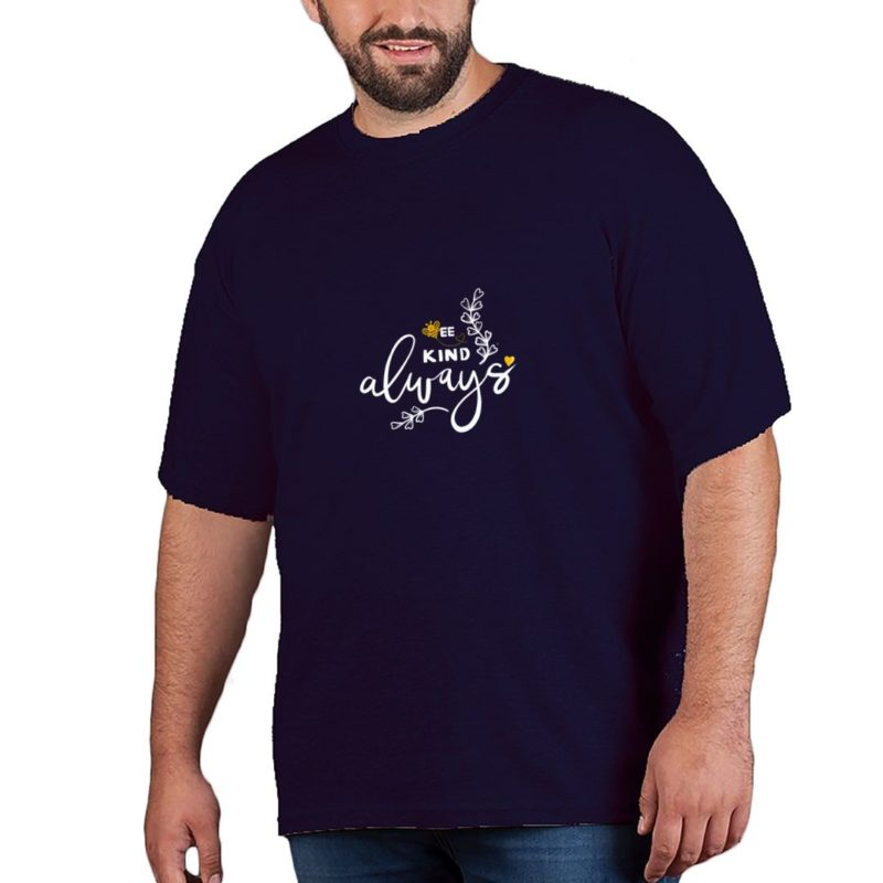 d5d60ecc be kind always plus size t shirt navy front.jpg