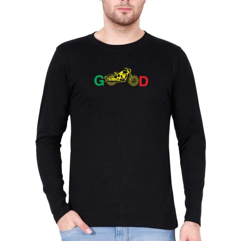 d5f4aa9d biking good for bikers and bike lovers full sleeve men t shirt black front.jpg