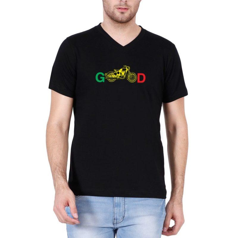 d5f4aa9d biking good for bikers and bike lovers men v neck t shirt black front.jpg