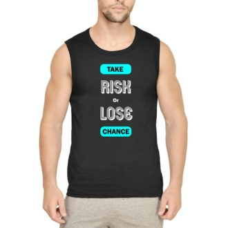 e2fba9a3 life motivational optimistic design men sleeveless t shirt vest black front.jpg