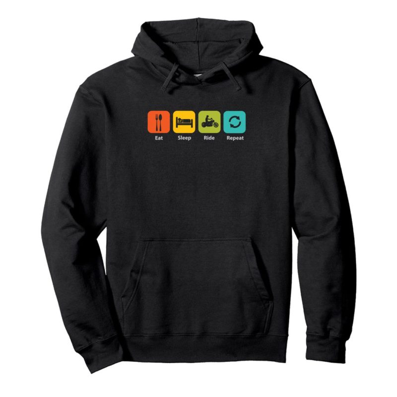 e79c4f36 eat sleep ride repeat for hardcore bikers touring bikes unisex hooded sweatshirt hoodie black front.jpg