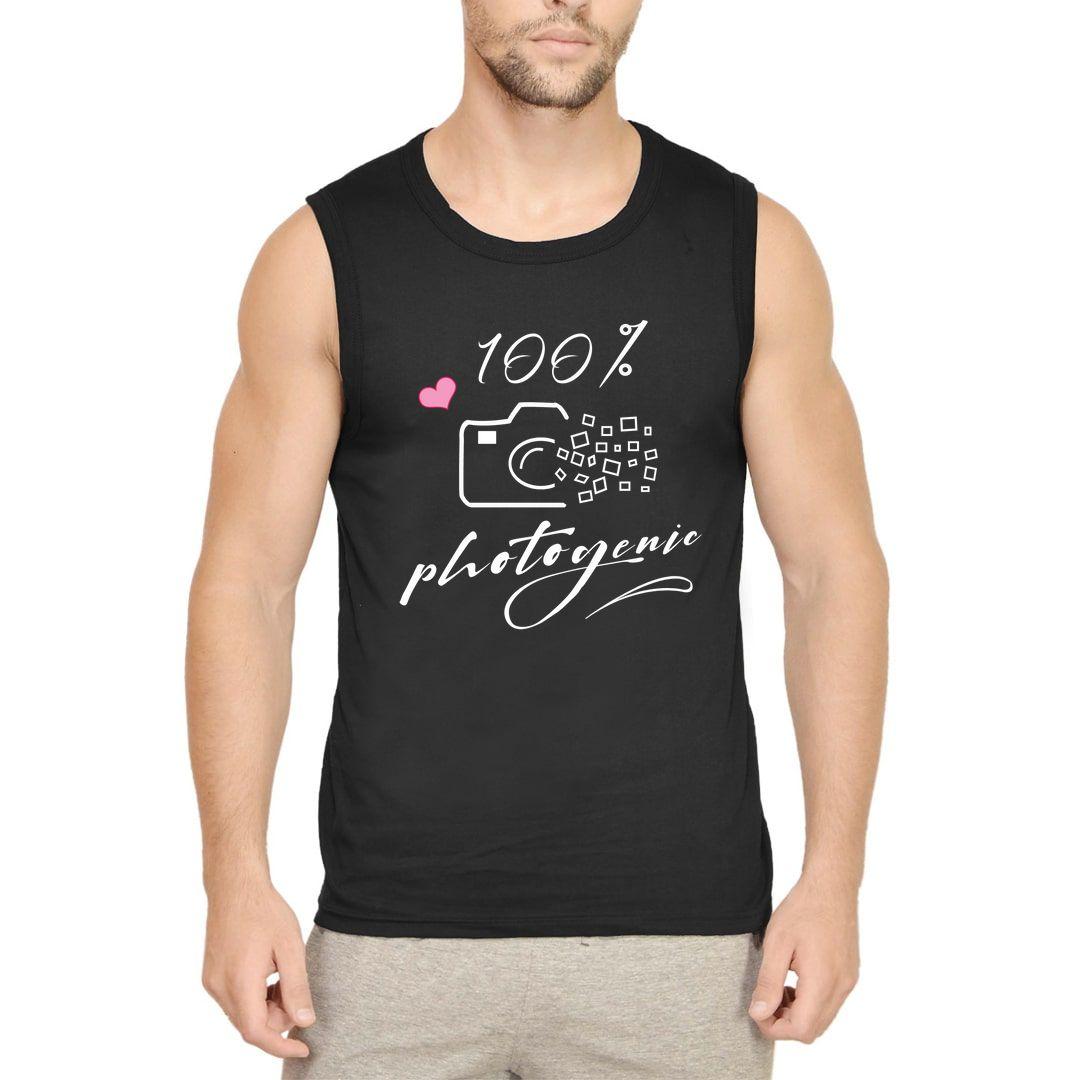 F2d14e49 100 Photogenic Men Sleeveless T Shirt Vest Black Front.jpg
