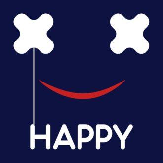 1cf01633 i am happynavy blue