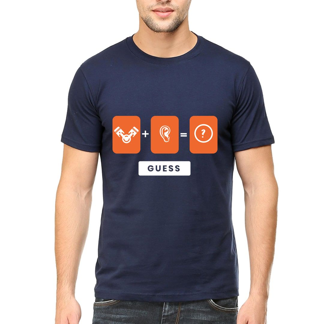 1dc06899 Engineer Quirky Design For Engineering Students Men T Shirt Navy Front.jpg