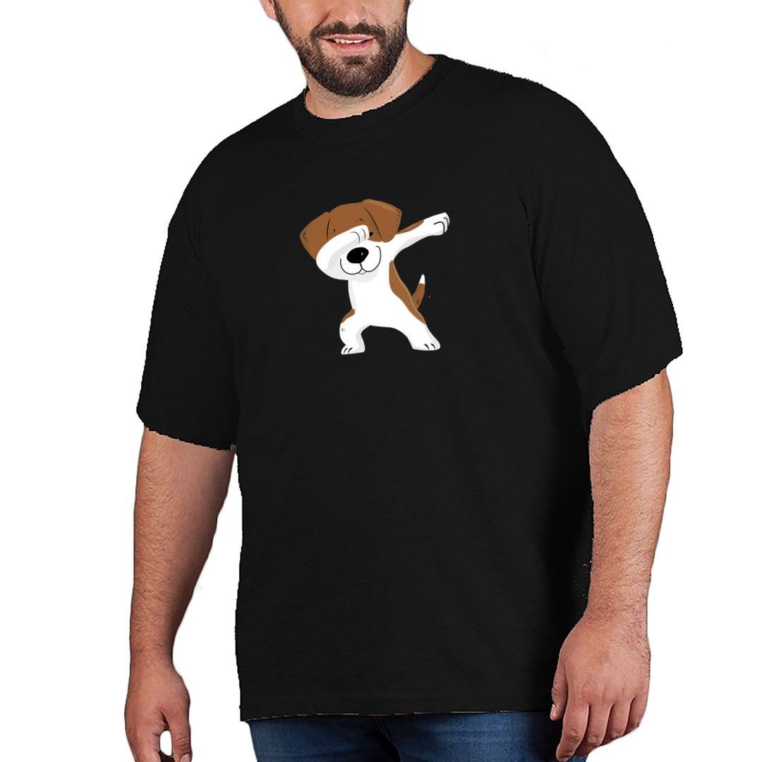 2ef48df0 Cute Puppy Dab Plus Size T Shirt Black Front.jpg