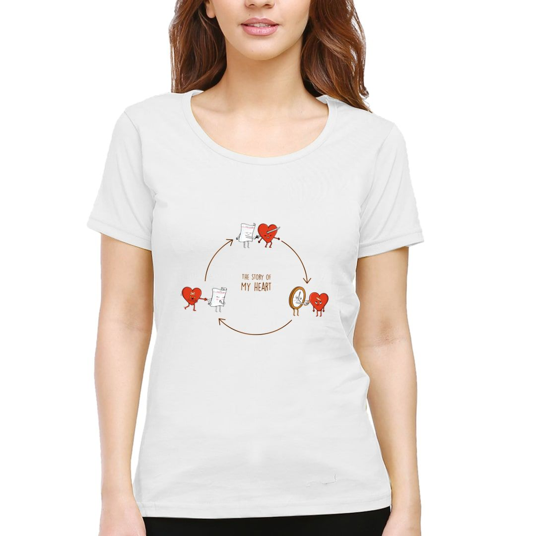 4f3a4470 Story Of My Heart Women T Shirt White Front.jpg