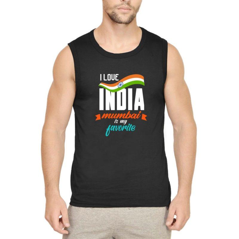 4fd7da01 i love india mumbai is my favorite men sleeveless t shirt vest black front.jpg