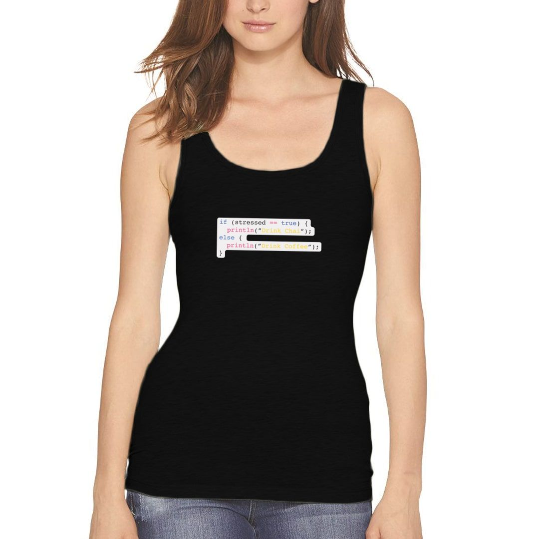 5284fa92 Coding Chai Stress Buster For Java Programmers Women Tank Top Black Front.jpg
