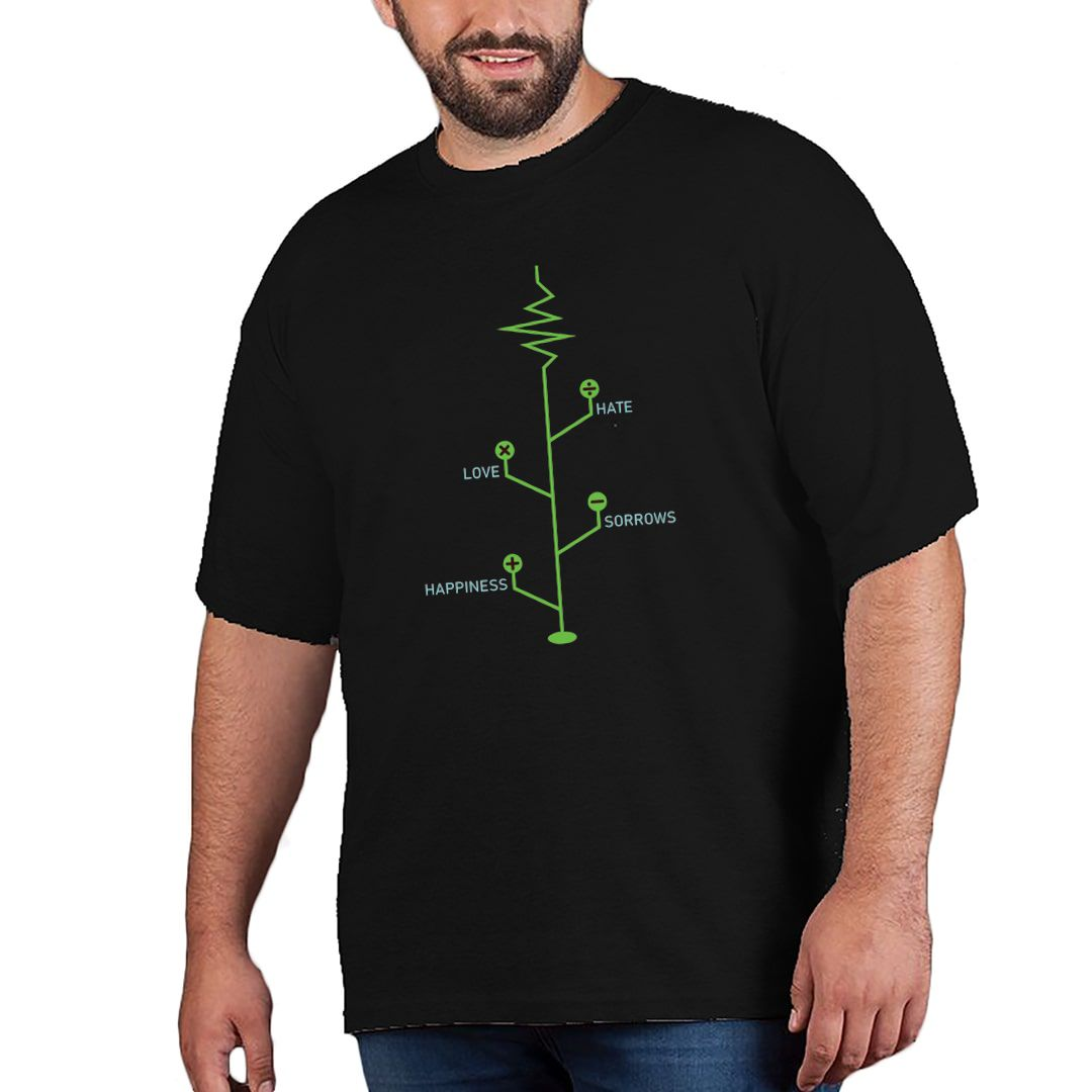 638dc539 Life Tree Creative Formula For Life Plus Size T Shirt Black Front.jpg