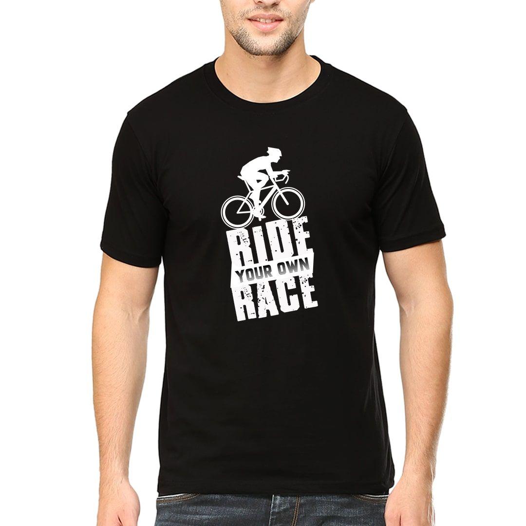 7cec5020 Ride Your Own Race Men T Shirt Black Front.jpg