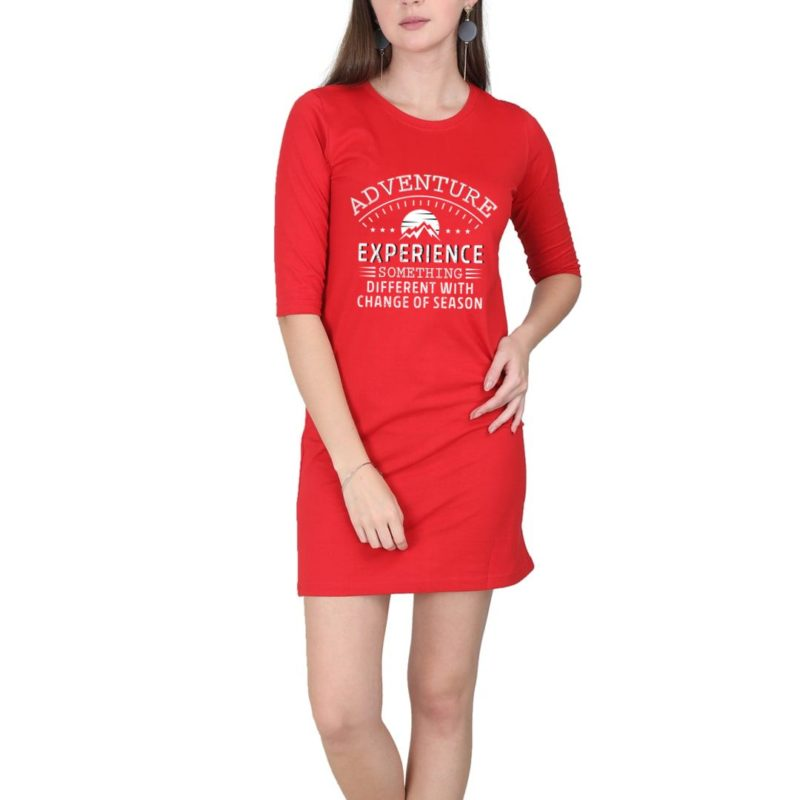 ae3b2092 i love mountains whatever the month women t shirt dress red front.jpg