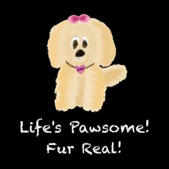 c3ad68b9 lifes pawsome fur real for dog puppy loverblack