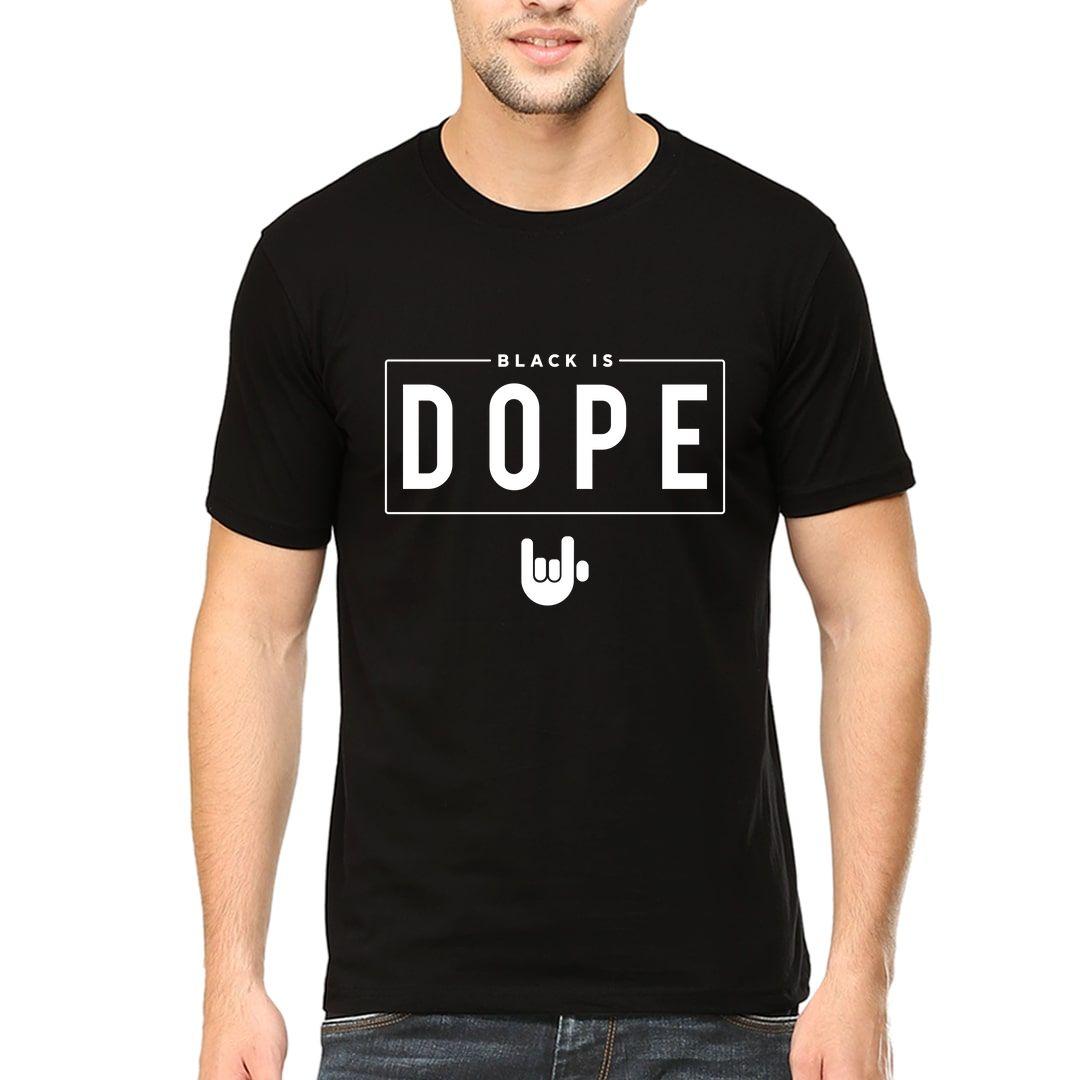 D9b877c3 Black Is Dope Men T Shirt Black Front.jpg