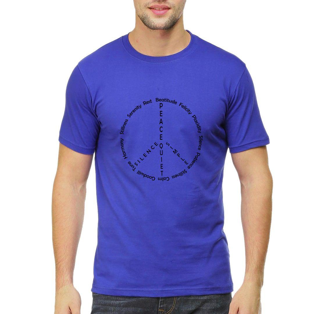 08cb8869 Peace And Stillness Men T Shirt Royal Blue Front.jpg
