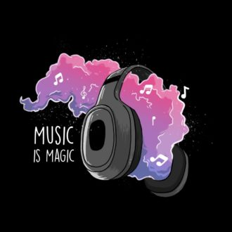 09d76547 music is magic vibrant design for music gaana isai loversblack