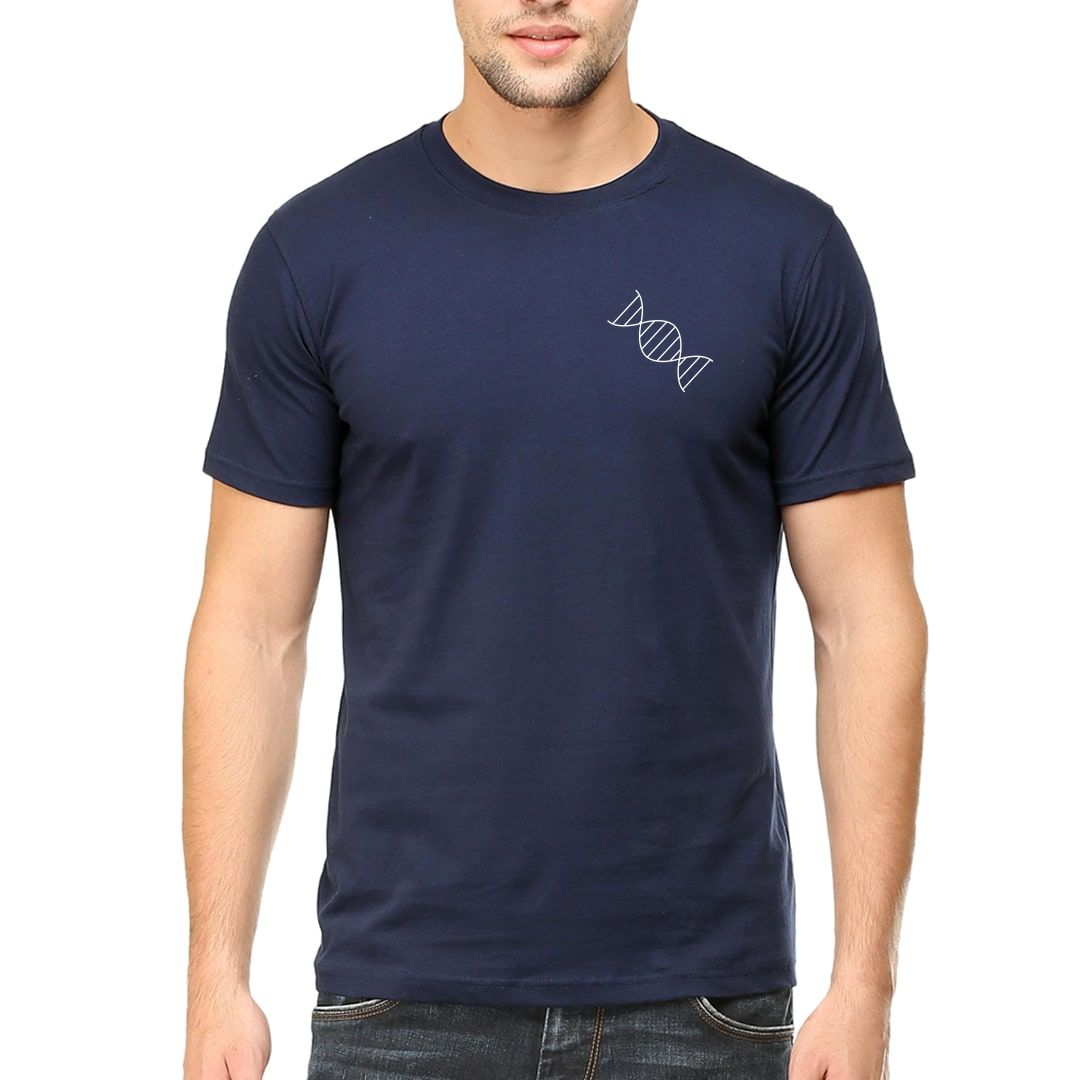 2382a184 Its In My Dna For Toffee Chocolate Lovers Men T Shirt Navy Front.jpg