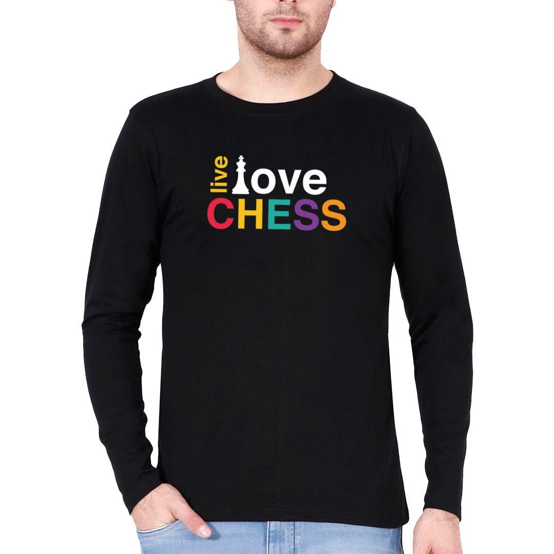 26571687 Live Love Chess Colourful Design For Chess Players Full Sleeve Men T Shirt Black Front.jpg