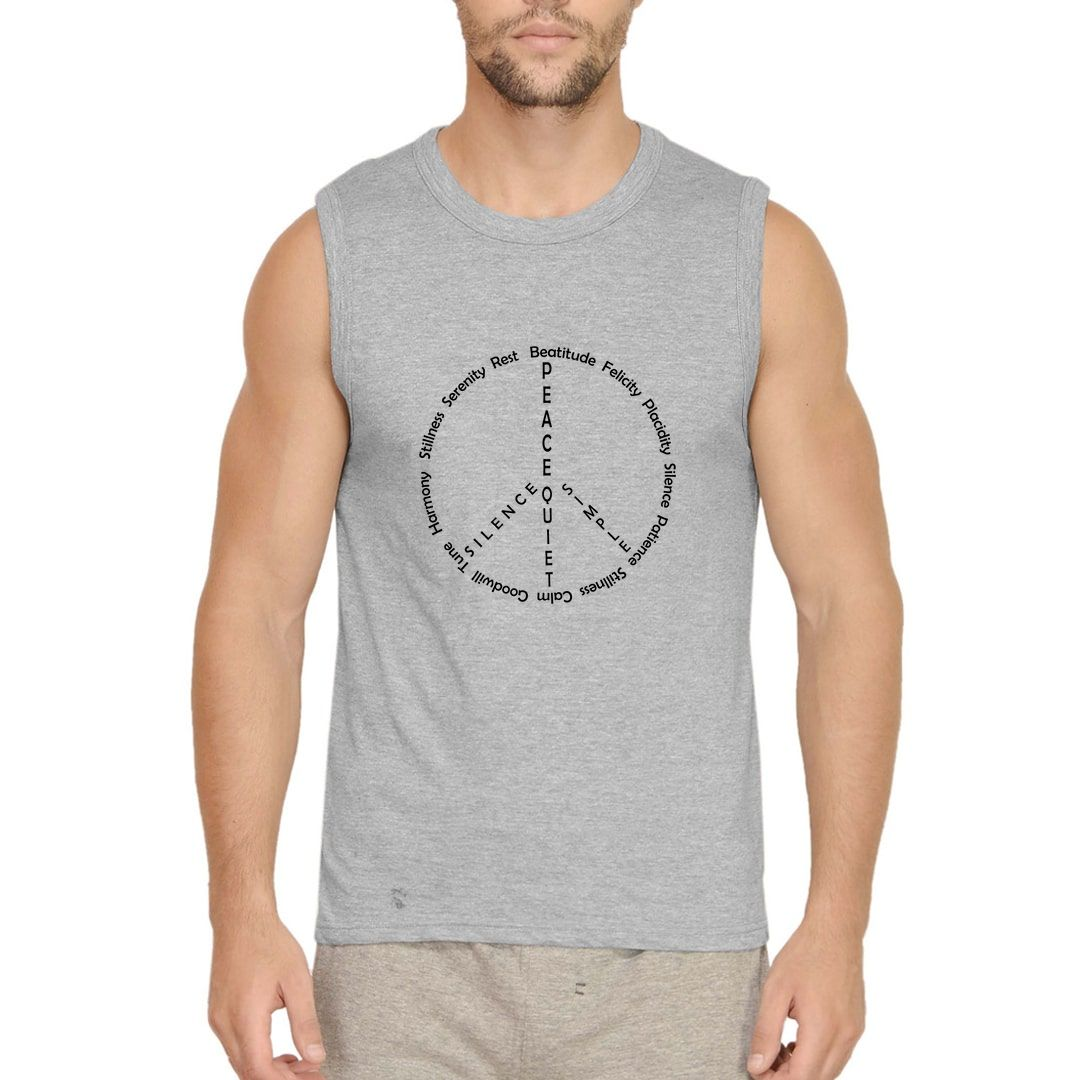 626bad97 Peace And Stillness Men Sleeveless T Shirt Vest Grey Front.jpg